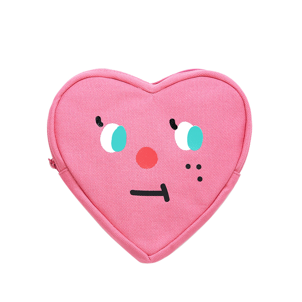 slowcoaster pink heart pouch (30% OFF)
