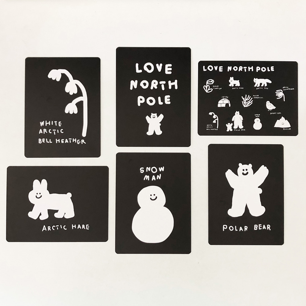 INAP LOVE NORTH POLE POSTCARD